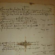 Manuscritos antiguos: 1593 - SENTENCIA DADA EN BURGOS A 27 DE ENERO DE 1593 A FAVOR DE DIEGO GARCIA DEL AMO. Lote 48559054