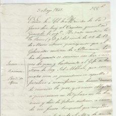 Manuscritos antiguos: MANUSCRITO DE LA GUERRA DE AFRICA AÑO 1861 JEFE DE LOS MOROS QUIERE LA PAZ EN ALHUCEMAS F. UZTARRIZ. Lote 166862325