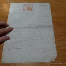 Manuscritos antiguos: DOCUMENTO DE ENSANCHE DE CIUDADELA, BARCELONA, 1884. Lote 48680510