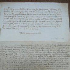 Manuscritos antiguos: 5 MANUSCRITOS DE FINALES DEL S. XIV- PRINCIPIOS DEL S.XV. TODOS RELATIVOS A BARCELONA.. Lote 48901954
