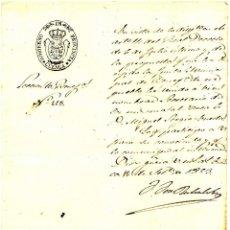 Manuscritos antiguos: CUENCA - GOBIERNO DE PROVINCIA - CARTA DIRIGIDA AL ALCALDE DE BUENACHE DE ALARCÓN - AÑO 1853. Lote 49036090