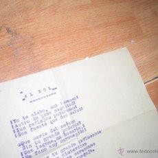 Manuscritos antiguos: ANTIGUO MANUSCRITO Y MECANOISCRITO FIRMADO 1920 MEDIUM DE ALICANTE SONAMBULISMO AL SOL. Lote 49061066