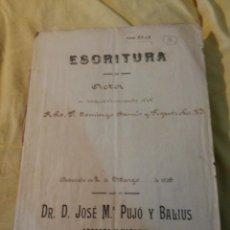 MANRESA - MANUSCRITO AÑO 1916 - RENUNCIA DE UN CURA A UNA HERENCIA - FIRMA NOTARIAL