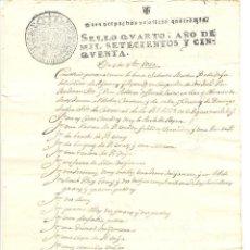 Manuscritos antiguos: DOCUMENTO DE UNA HOJA DEL AÑO 1750 A CLASIFICAR. Lote 49488117