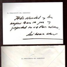 Manuscritos antiguos: SIGNED. AUTOGRAPH. FIRMA. JOSE MARIA AZNAR, PRESIDENTE DE ESPAÑA 1996 - 2004. LEER. Lote 49515597