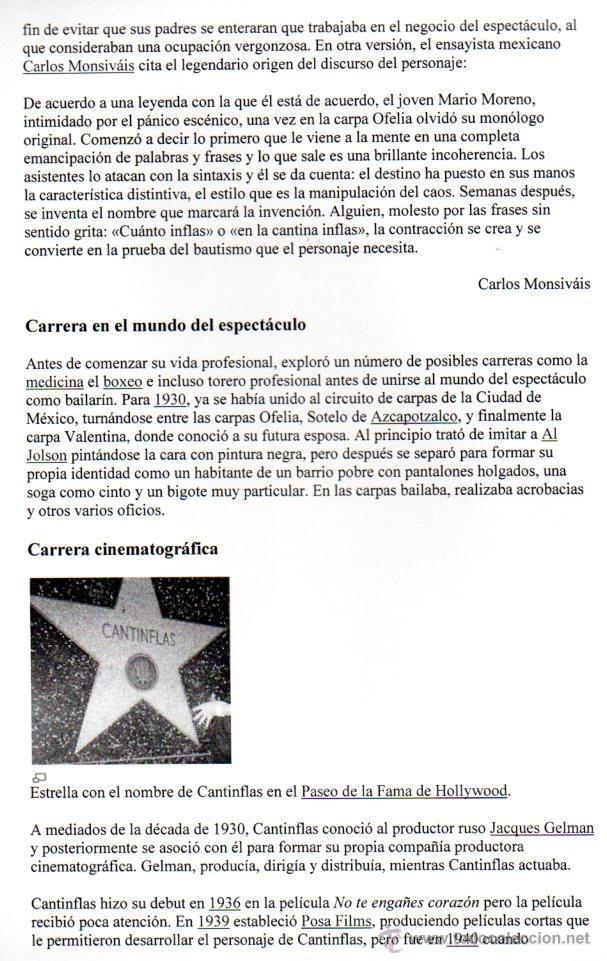 Manuscritos antiguos: SIGNED, AUTOGRAPH. FIRMA. MARIO MORENO CANTINFLAS. LEER - Foto 5 - 49594520
