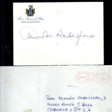 Manuscritos antiguos: SIGNED. AUTOGRAPH. FIRMA. AMALIA RODRIGUEZ. CANTANTE, LA REINA DEL FADO. LEER. Lote 289832438