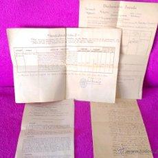 Manuscritos antiguos: 6 DOCUMENTOS Y MANUSCRITOS RELACIONADOS CON LA GUERRA CIVIL, MILITAR, RAROS 1936, 1939. Lote 49858505