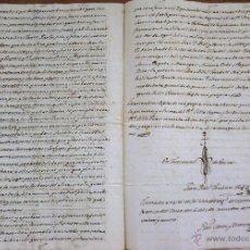 Manuscritos antiguos: POLICIA MOSSOS D'ESQUADRA,MANUSCRITO 1829 COMANDANTE PUESTO DE L'ARBOÇ,TARRAGONA,CATALUNYA,FIRMADO. Lote 50094909