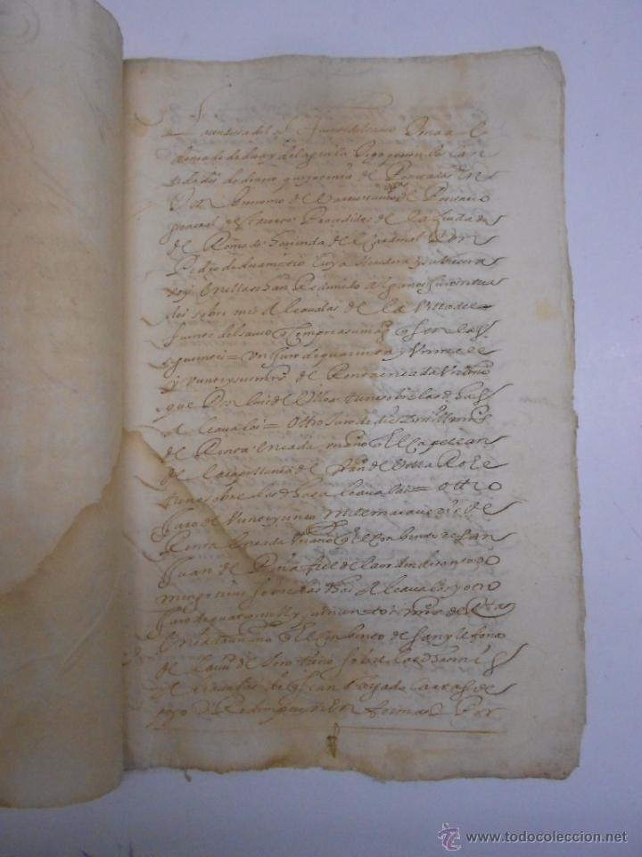 Manuscritos antiguos: MANUSCRITO (ZAMORA) 1629 CONDESA DE FUENTESAUCO ALDONZA DE DEZA.REDENCION DE 500 MIL MARAVEDIES - Foto 2 - 50205956