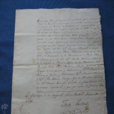 Manuscrits anciens: DOCUMENTO FIRMADO JOSE VALDES - CURA DEL SAGRARIO EN 1811 EN NUEVA GUATEMA - PARTIDA DE BAUTISMO. Lote 50221550