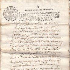 Manuscritos antiguos: MANUSCRITO REUS AÑO 1766 - VENTA DE UN TERRENO EN REUS DEL CAMP- EN CATALAN-. Lote 50223034