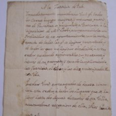 Manuscritos antiguos - PALS GIRONA guerra de Independencia 1809 SITIO DE GIRONA Mr. Lechi * Requisar carros para franceses - 50408198