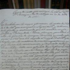Manuscritos antiguos: [COPIA DE CARTA ESCRITA POR UN CARDENAL AL PRINCIPE PIO DE SABOYA.] 1721 (ORIGINAL). COPIA DE C.1750. Lote 50496039