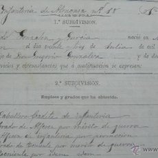 Manuscritos antiguos: [MILITARIA. REGIMIENTO DE INFANTERÍA DE ALMANSA.] GERONA, 1879.. Lote 50497591