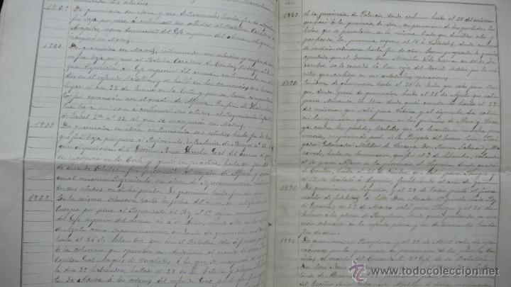 Manuscritos antiguos: [Militaria. REGIMIENTO DE INFANTERÍA DE ALMANSA.] Gerona, 1879. - Foto 4 - 50497591