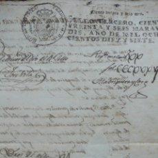 Manuscritos antiguos: [FERNANDO VII.]PROVISION DE S. M. CITATORIA, ... BARCELONA, 1817. LA SELVA, TARRAGONA, DERECHO, .... Lote 50497732