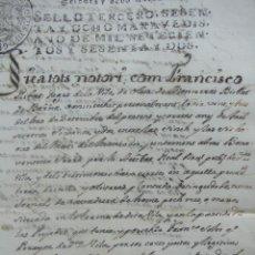 Manuscritos antiguos: [POSSESSIÓ DE VINYA,CAPÍTOLS MATRIMONIALS,TESTAMENT DE LA FAM. RIBAS D'OLESA DE MONTSERRAT,1685/1762. Lote 50497829