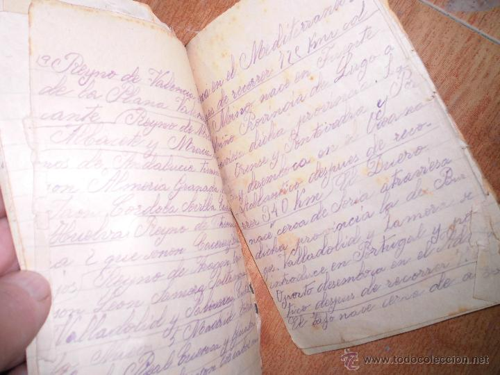 PAPELERIA JOSE MARIMON ALICANTE LIBRETA ANTIGUA MANUSCRITA 26 PGS (Coleccionismo - Documentos - Manuscritos)