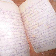 Manuscritos antiguos: PAPELERIA JOSE MARIMON ALICANTE LIBRETA ANTIGUA MANUSCRITA 26 PGS. Lote 50576642