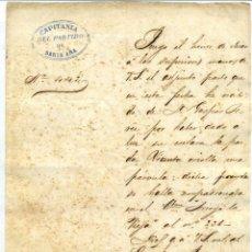 Manuscritos antiguos: DOCUMENTO DE ESCLAVOS - NOTIFICACION DEL NACIMIENTO DE UNA ESCLAVA - SANTA ANA (CUBA) 1869. Lote 50646737