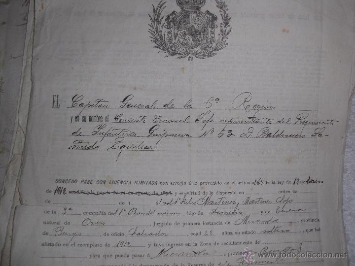 Manuscritos antiguos: DOCUMENTOS ANTIGUOS BURGOS,PAÍS VASCO,LA RIOJA DESDE SIGLO XVII - Foto 5 - 50742469