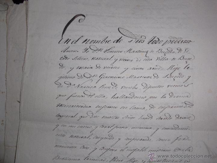 Manuscritos antiguos: DOCUMENTOS ANTIGUOS BURGOS,PAÍS VASCO,LA RIOJA DESDE SIGLO XVII - Foto 8 - 50742469
