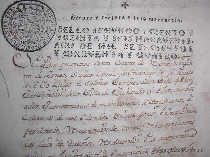 Manuscritos antiguos: DOCUMENTOS ANTIGUOS BURGOS,PAÍS VASCO,LA RIOJA DESDE SIGLO XVII - Foto 13 - 50742469