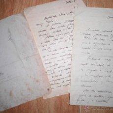 Manuscritos antiguos: MANUSCRITO CARTAS Y DIBUJOS ANTIGUOS CADIZ 1949 DIBUJO RETRATO Y OTROS. Lote 50854003