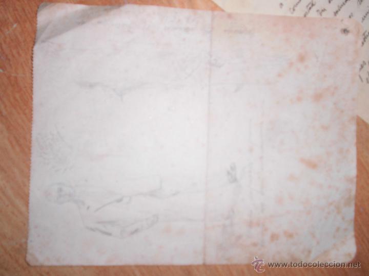 Manuscritos antiguos: manuscrito cartas y dibujos antiguos cadiz 1949 DIBUJO RETRATO Y OTROS - Foto 2 - 50854003