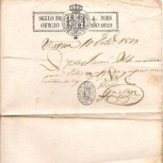 Manuscritos antiguos: DOCUMENTO DE LA POLICIA DE BARCELONA EMITIDO EN FECHA 10 DE OCTUBRE DE 1827. Lote 51091909