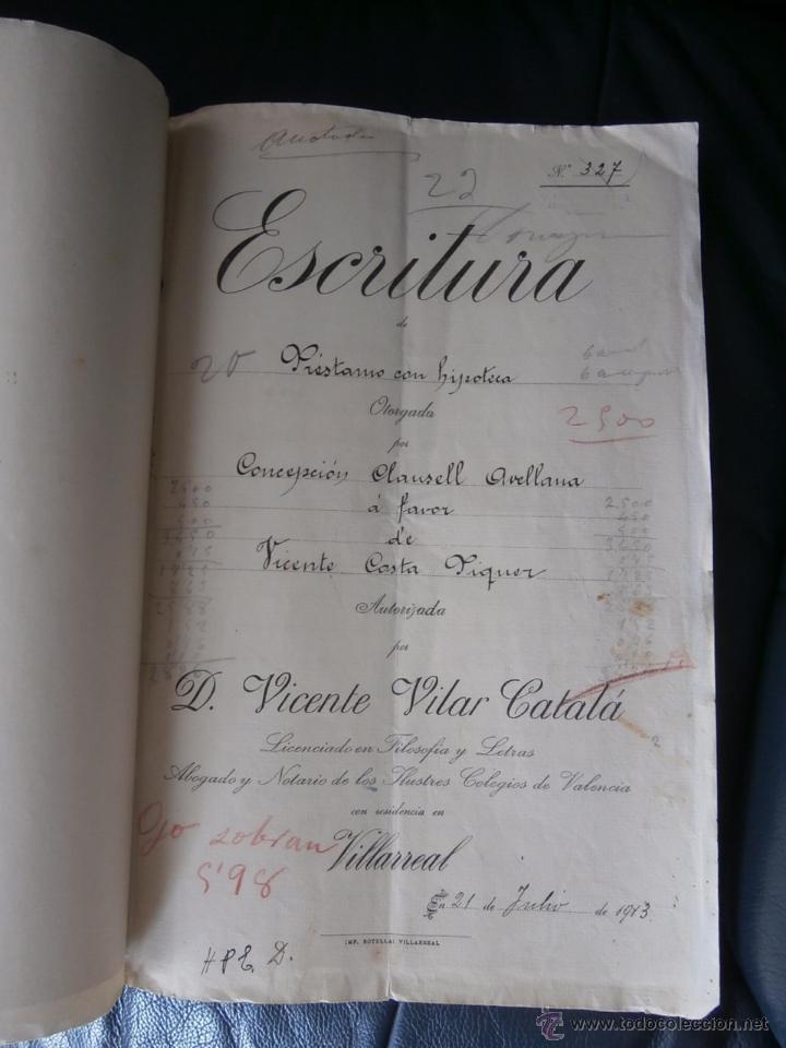 Escritura de prestamo con hipoteca 1913 y carta comprar for Prestamos con hipoteca