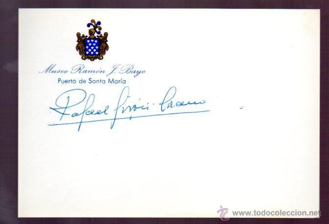 SIGNED,AUTOGRAPH,FIRMA, RAFAEL GIRON ,GENERAL JEFE DEL SEGUNDO REGIMIENTO DE LA GUARDIA CIVIL.LEER. (Coleccionismo - Documentos - Manuscritos)