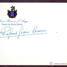 Manuscritos antiguos: SIGNED,AUTOGRAPH,FIRMA, RAFAEL GIRON ,GENERAL JEFE DEL SEGUNDO REGIMIENTO DE LA GUARDIA CIVIL.LEER.. Lote 51356359