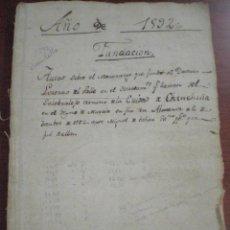 Manuscritos antiguos: 1592 1772 ALMANSA CHINCHILLA (ALBACETE) DOCUMENTOS MANUSCRITOS FUNDACION MAYORAZGO LORENZO DEL VALLE. Lote 51585347
