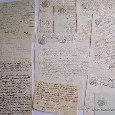 Manuscritos antiguos: FRANCIA 1800 - 1860 * LOTE DE 11 MANUSCRITOS FRANCESES. Lote 51770806
