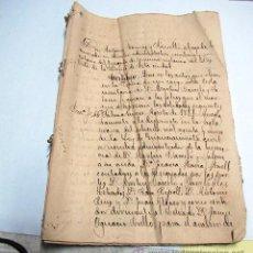 Manuscritos antiguos: ACTAS NOTARIALES 1886 (PALMA DE MALLORCA). Lote 51935872