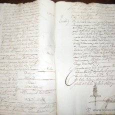 Manuscritos antiguos: ANTIGUO DOCUMENTO , MANUSCRITO, VILLA DE COZAR , CIUDAD REAL 1744. Lote 52290575