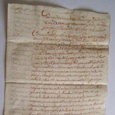 Manuscritos antiguos: 1778 * VILAFRANCA DEL PENEDES - BARCELONA * MANUSCRITOS FAMILIAR DEL SANTO OFICIO DE LA INIQUSICION. Lote 52310128