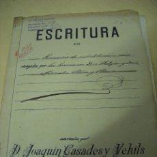 Manuscritos antiguos: MANUSCRITO NOTARIAL DE D. JOAQUÍN CASADES Y VEHILS (BARCELONA 1914). Lote 52323382