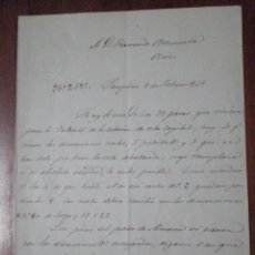 Manuscritos antiguos: 1861 PAMPLONA. CARTA BONITO MEMBRETE EN SECO LINEA FERROCARRIL ZARAGOZA ALSASUA. DEFECTOS MATERIAL. Lote 52393994