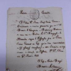 Manuscritos antiguos: GUERRA DE LA INDEPENDENCIA. 1811. MANUSCRITO GENERAL MARTIN DE LA CARRERA. OLIENZA, BADAJOZ. Lote 52477760