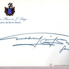 Manuscritos antiguos: SIGNED,AUTOGRAPH,FIRMA,GENERAL AMADEO GARCIA DOS SANTOS JEFE ESTADO MAYOR,PORTUGAL,LEER.. Lote 52615224