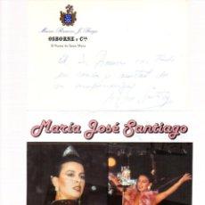 Manuscritos antiguos: SIGNED,AUTOGRAPH,FIRMA,MARIA JOSE SANTIAGO,CANTANTE ESPAÑOLA.VER GOOGLE.. Lote 52627284