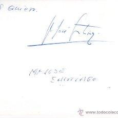 Manuscritos antiguos: SIGNED,AUTOGRAPH,FIRMA,MARIA JOSE SANTIAGO,CANTANTE ESPAÑOLA.VER GOOGLE.. Lote 52627406