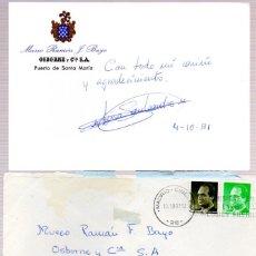 Manuscritos antiguos: SIGNED,AUTOGRAPH,FIRMA,MARIA LUISA PADILLA SAN LEANDRO,CANTAORA ESPAÑOLA.VER GOOGLE.. Lote 52628618