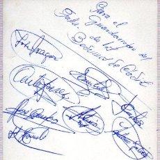 Manuscritos antiguos: SIGNED,AUTOGRAPH,FIRMA,TARJETA PUBLICITARIA FIRMADA POR LOS BEDUINOS DE CADIZ.VER GOOGLE.. Lote 52647626