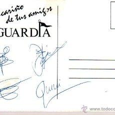Manuscritos antiguos: SIGNED,AUTOGRAPH,FIRMA,TARJETA PUBLICITARIA FIRMADA POR INTEGRANTES DEL GRUPO LA GUARDIA.VER GOOGLE.. Lote 52648315