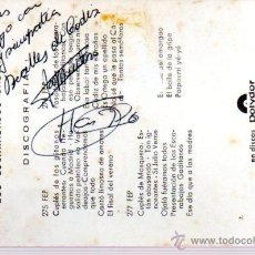 Manuscritos antiguos: SIGNED,AUTOGRAPH,FIRMA,TARJETA PUBLICITARIA FIRMADA POR LOS BEATLES DE CADIZ..VER GOOGLE.. Lote 52652981
