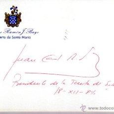 Manuscritos antiguos: SIGNED,AUTOGRAPH,FIRMA,TARJETA FIRMADA POR JUAN CARLOS RODRIGUEZ IBAR ,POLITICO ESPAÑOL .VER GOOGLE.. Lote 52756170